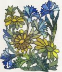 Daisies and Blue Cornflower Panel Kit