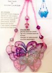 Organza Pink Butterfly Bag Charm / Decorative Dangle