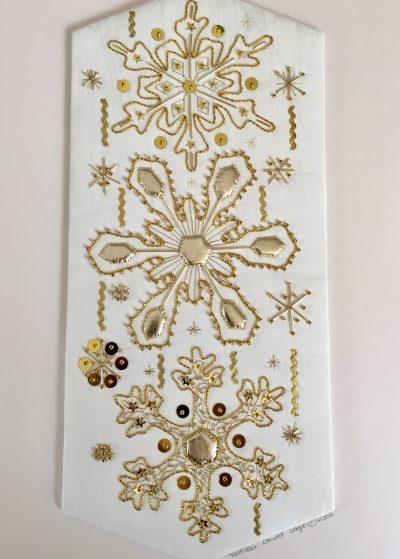 Golden Snowflake Panel