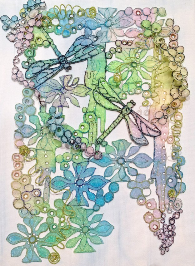 Dragonfly organza panel Kit