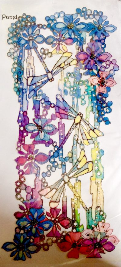 Dragonfly Dance. Layered Dimensional Panel