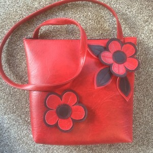 Red Leather Look Bag