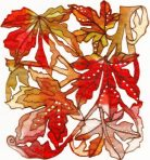 Autumn Leaves Organza Panel Kit