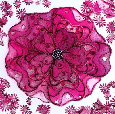 Organza Flaunt It Flower Brooch Kit (Pink)