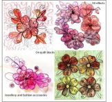 Quick 3 Dimensional Scrap Organza Flower Toppers Kit