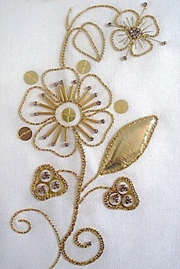 Goldwork Strawberries and Flower Kit
