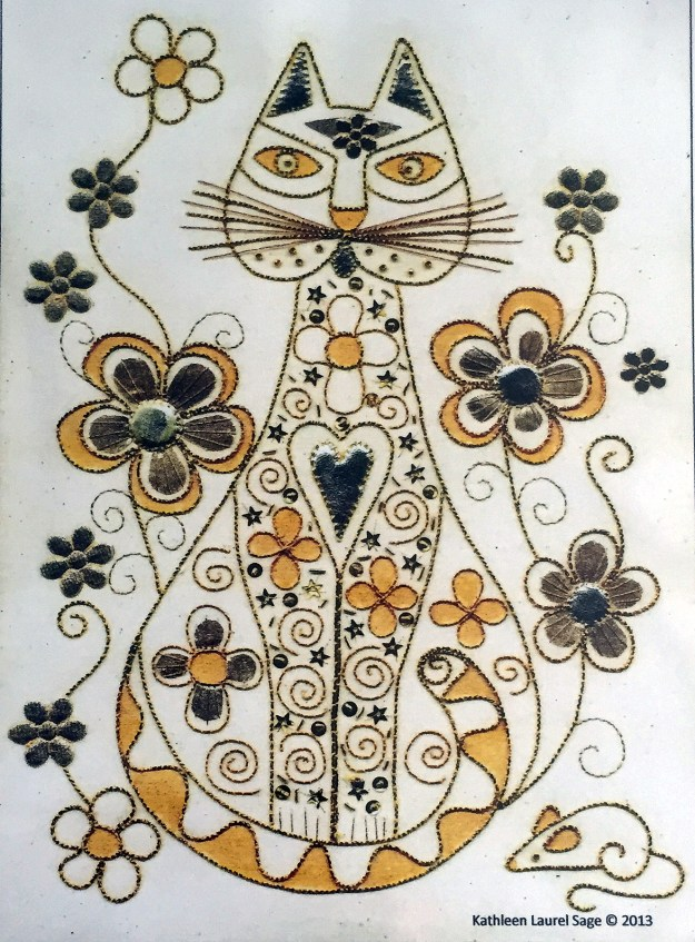 Goldwork Elegant Cat