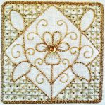Goldwork Pansy Tile Kit