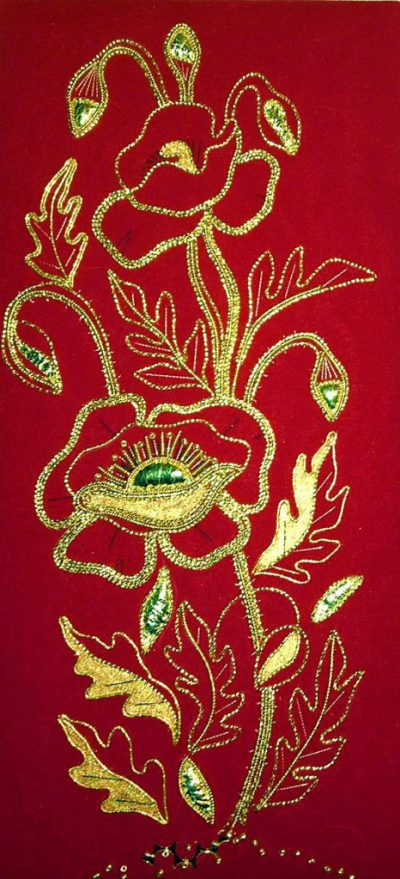 Goldwork Poppy Kit