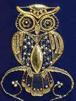 Goldwork Owl