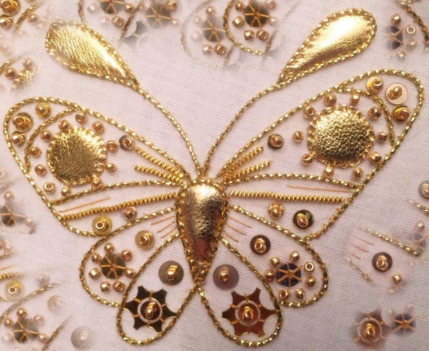 Introduction to gold work: butterfly