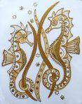 Goldwork Seahorses