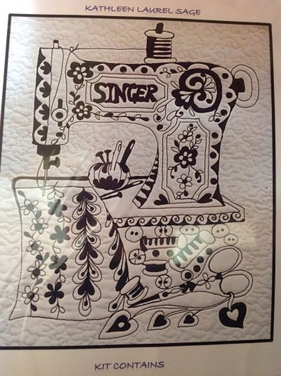 Zentangle Sewing Room Panel