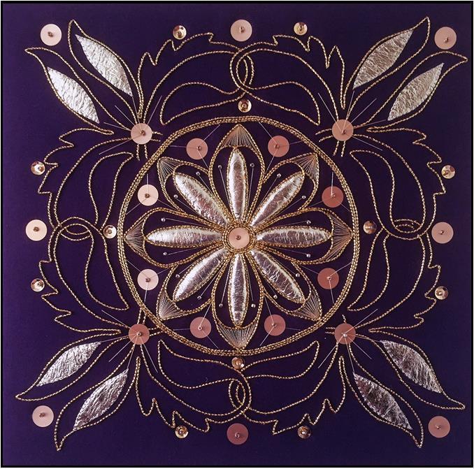 Goldwork Flower Window