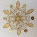 Introduction to Goldwork: Couched and Painted Flower Bloom