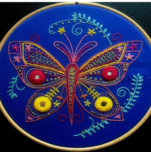 Shisha Mirror Butterfly