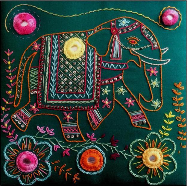 Indian Inspirations Embroidery Kit Archives Kathleen Laurel Sage