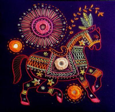Shisha Mirror Horse