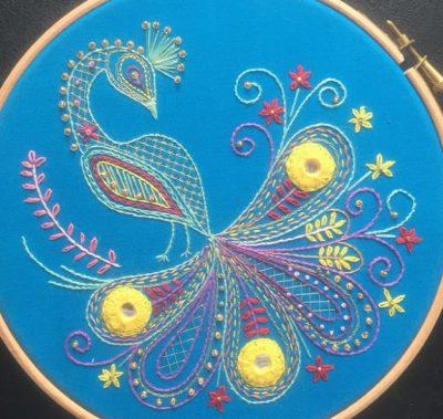 Shisha Mirror Peacock