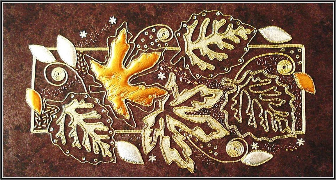 Autumn Leaves Goldwork Kit