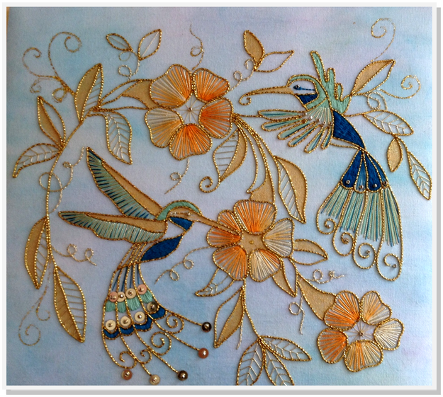 Goldwork Hummingbird Kit