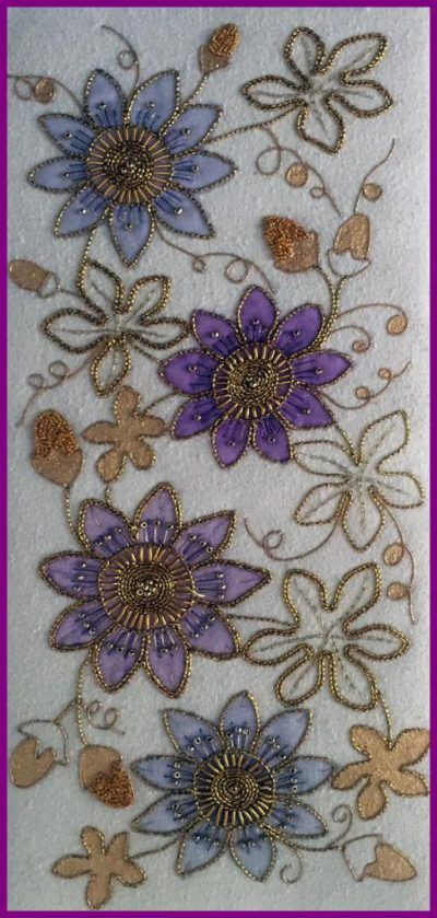 Passion Flower Goldwork