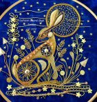 Moonlight Hare Gold Work Kit