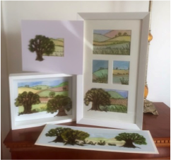 Trees and Painted Lanscapes