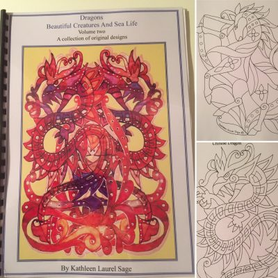 Dragons, Beautiful Creatures and Sea Life Design Book